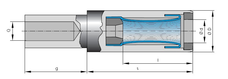Drahtfederbuchse ø 28 mm Crimpanschluss