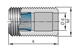 Lamellenbuchse ø 4 mm durchgehend offen