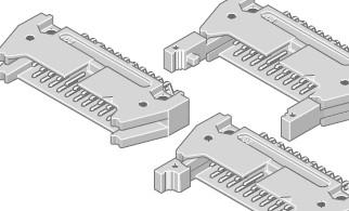 Flakafix Steckleiste abgew. 20-pol SMT