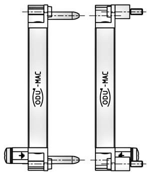 MAC Buchsen-Rahmen Alu 4 Einheiten
