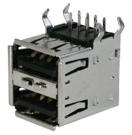USB, Typ A, Löt, 2-Port