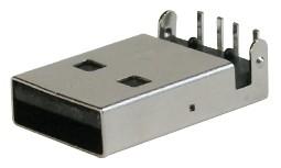 USB, Typ A, SMD, Side-Entry, Ultraflach
