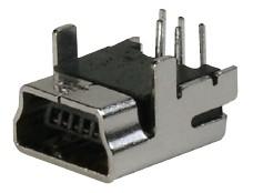 USB, Typ B-Mini, 5 pol. Löt