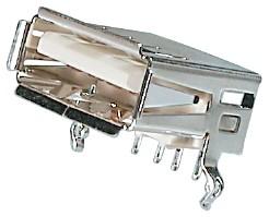 USB, Typ A, Löt, 4-pol. Leiterplattenmontage