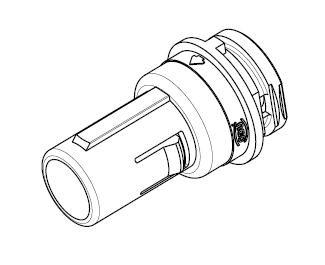 MEDI-SNAP Baugr.1 Stift 8-pol Kabel mit Durchführung