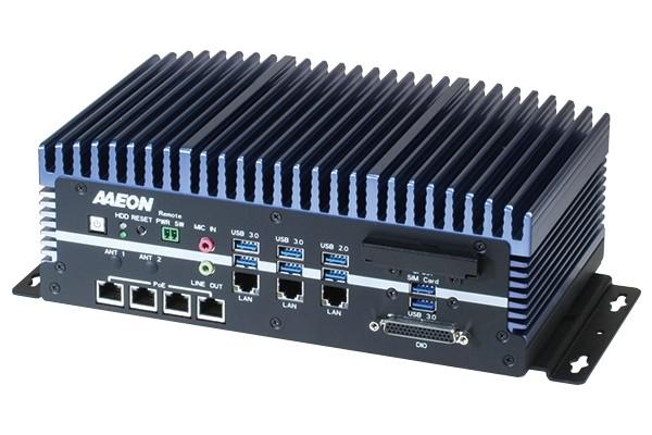 Fanless Embedded Box PC, LAN x 3, PoE x4, USB 3.0 x 6, USB 2.0 x 2, RS232/422/485 x 6, HDMI x 2, VGA
