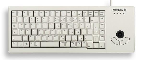 CHERRY Keyboard XS TRACKBALL USB Trackball hellgrau CH Layout
