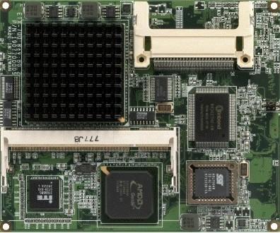 ETX Board.AMD LX800.18-bit LVDS.DDR.LAN.Audio.2COM