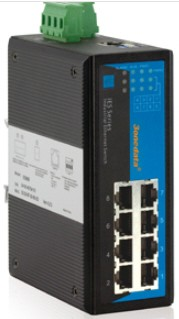 3onedata Ethernet Switch 8 ports 10/100M unmanaged,-40+75C,12..48VDC