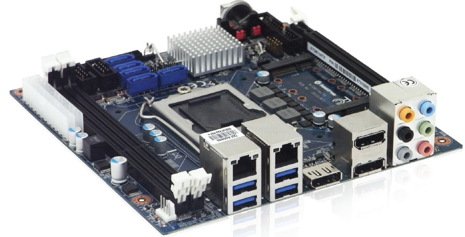 mITX Board Q87 Chipset, 3x Display Port, 2x DDR3L, 2x Gb LAN, 1 x mPCIe, 1 x mSATA