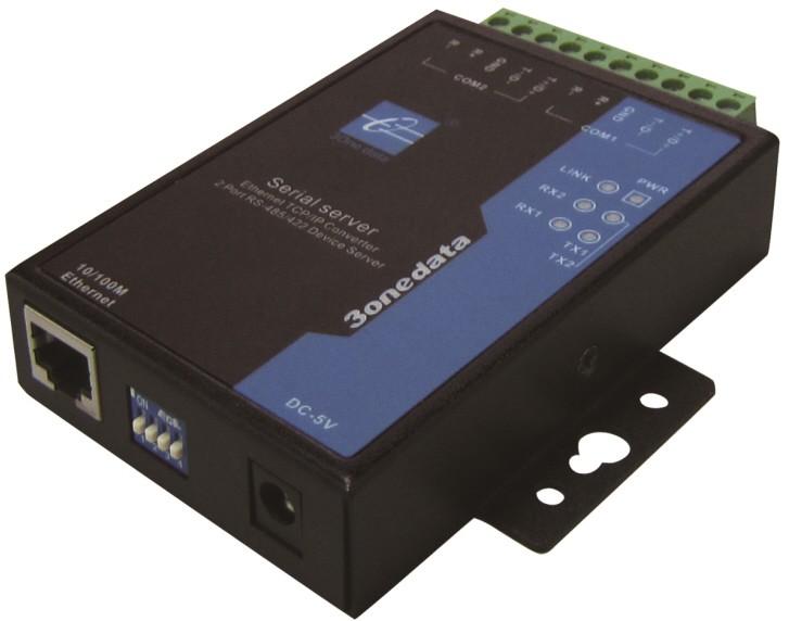 3onedata Device Server 1 port Eth. 10/100M, 2x RS422/485 Terminal Block,-40+75C,9..48VDC