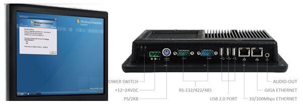 "10.4"" Panel PC 1GHz 1GB/3U/1A/1L/2S/DC12..24V wide temperature range"
