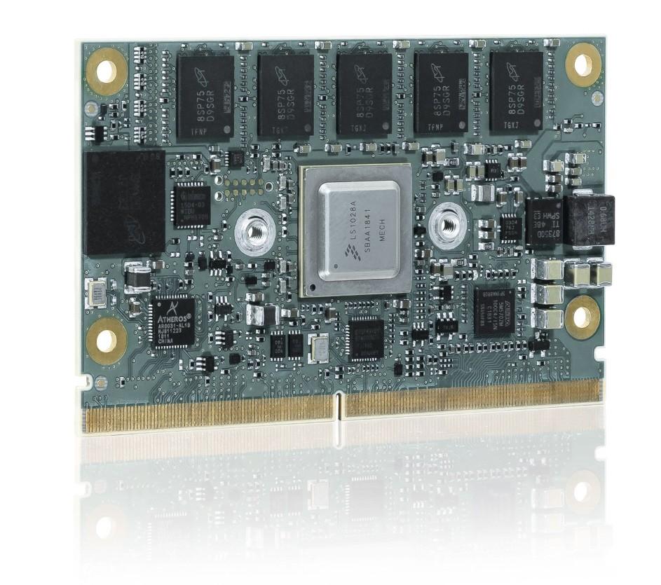 SMARC with NXP LS1028, 1.3GHz dual core; 4GB DDR3L ECC, 32GBeMMC SLC, NW4, 2xPCIe,DP,ind.Temp.