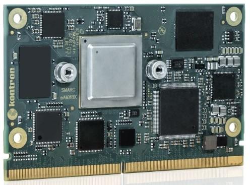 SMARC with NXP i.MX8X, quadX+ 1.2 GHz; 3 GB LPDDR4, 8GBeMMC SLC, LVDS, DP, HDMI, 2x LAN, 3x PCIe