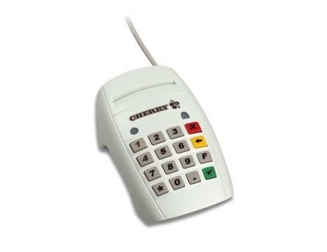 CHERRY SmartCard Terminal (ChipCard) mit PIN-Eingabe USB grau