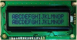 LCD 16x2, Y/G, STN, Reflective, NT, 6:00 EN/JP