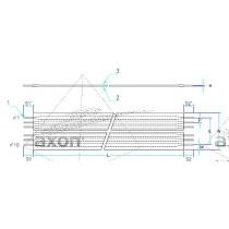 AXOSTRIP, RFC, Raster 2.54 mm, 10 - polig