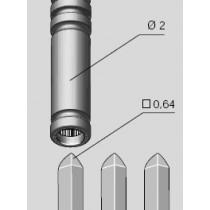 Drahtfederbuchse 0.64 x 0.64 qmm