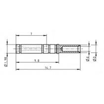 ODU - X- Buchsenkontakt ø 1.10 mm