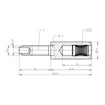 Lamellenbuchse ø 24 mm für Löt-Schraubanschluss