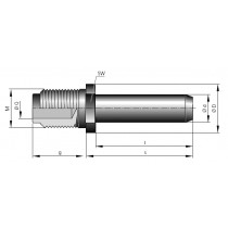 Stiftkontakt massiv ø 10 mm Löt-Schraubanschl.