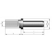 Stiftkontakt massiv ø 2 mm Crimpanschluss