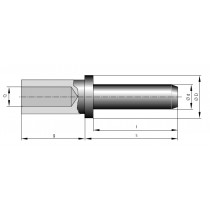 Stiftkontakt massiv ø 8 mm Crimpanschluss