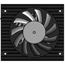 COM Express® Universal Active Cooler for Heatspreader Mounting