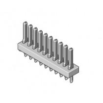 Stiftleiste 1-reihig Raster 2.54mm gerade 4-pol