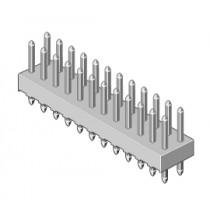 Stiftleiste 2-reihig Raster 2.54mm gerade 2-pol