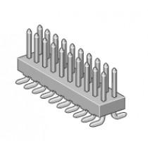 Stiftleiste SMT, 2-reihig R 2.54mm, gerade 10-pol