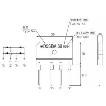 Bridge Diode 600V 6A Pack.5S SIP