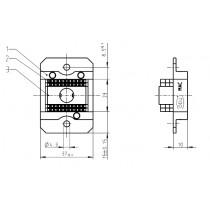 MAC Buchsenteil kpl. mit 4 Isolierkörper je 10-pol