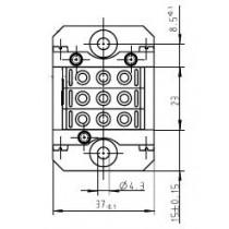 MAC Stiftteil kpl. mit 3 Isolierkörper je 3-pol