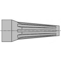 MINI-SNAP Baugr.0 Kn.-Tülle grau 4.5 - 5.0mm