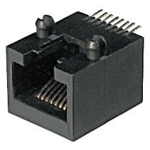 """8 pol. SMD abgewink. mit Board Locks, 6µ"""" Au"""