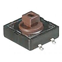 Schalter, Taster, SMD, 12x12 mm Braun, 160g