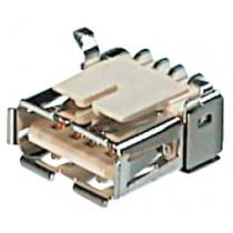 USB, Typ A, SMD, gewinkelt / Tray