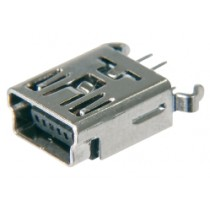 USB, Typ B-Mini, 5 pol. SMD, Top Entry
