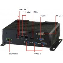 Fanless Embedded Box PC i7-4700EQ 2.4GHz VGA+DVI-D+HDMI DC-in 9..30V