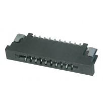FFC Connector, ZIF, 1.00 mm, 12-polig