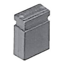 geschl. Gehäuse, 02 pol. RM. 2,54 mm flash Au