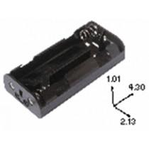 Batteriehalter für 4xC mit 9V-Snap