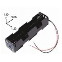 Batteriehalter für 8xAA mit Drahtanschluss