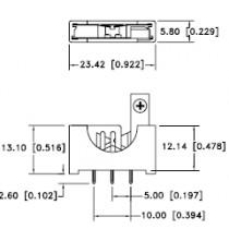 Batteriehalter vertikal für CR2032