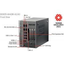 Fanless Embedded Box PC, EC.C246.1PCIEX16+1PCIEx4.2HDMI.6USB3.2 Gen1.4COM.3LAN.DC12-24V.Fan