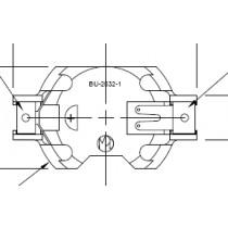 Batteriehalter für CR2032, High Grip, SMT
