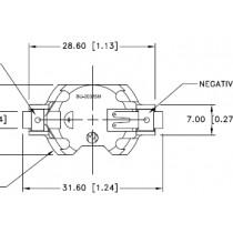Batteriehalter für CR2032, Pick and Place, SMT