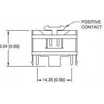 Batteriehalter für CR1632 vertikal