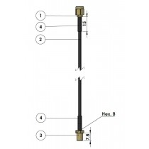 HF Kabel SMA male gold - 1,7 m RG174 - SMA, female gold